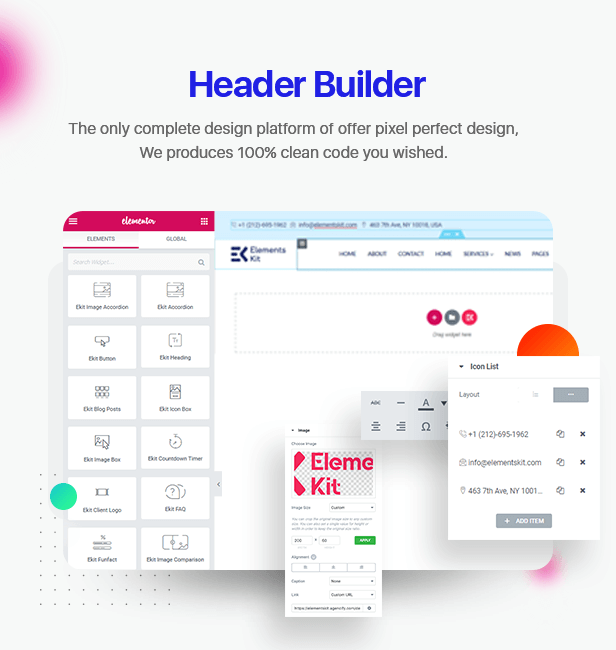 \  - 1 header builder - Elements Kit – All In One Addons for Elementor Page Builder