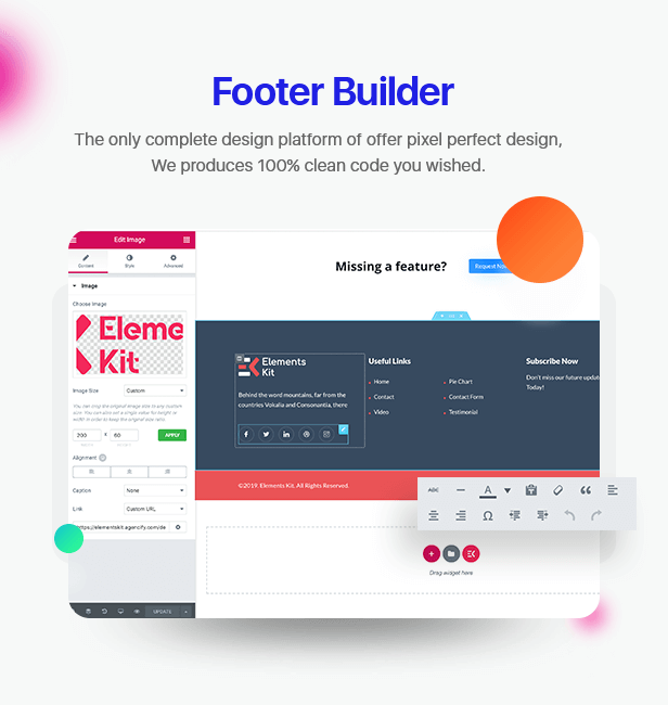 \  - 2 footer builder - Elements Kit – All In One Addons for Elementor Page Builder
