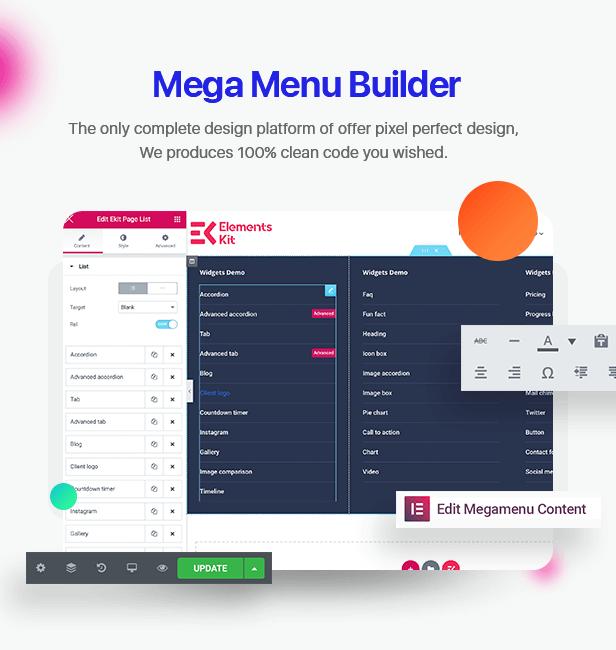 \  - 3 mega menu builder - Elements Kit – All In One Addons for Elementor Page Builder