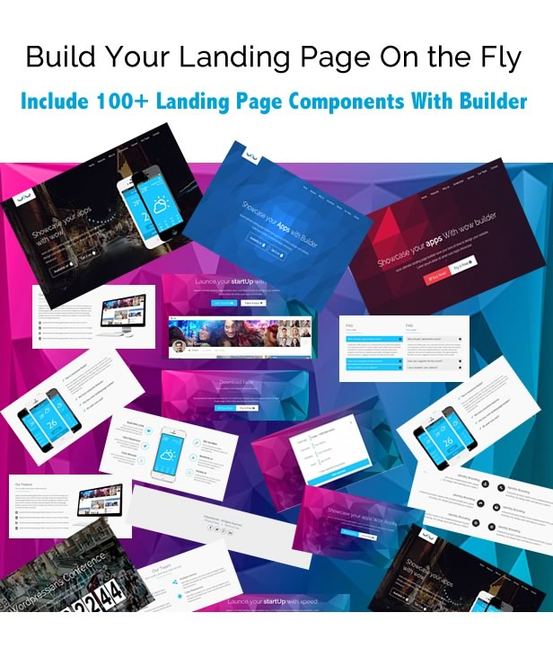 wow landing page template with  builder