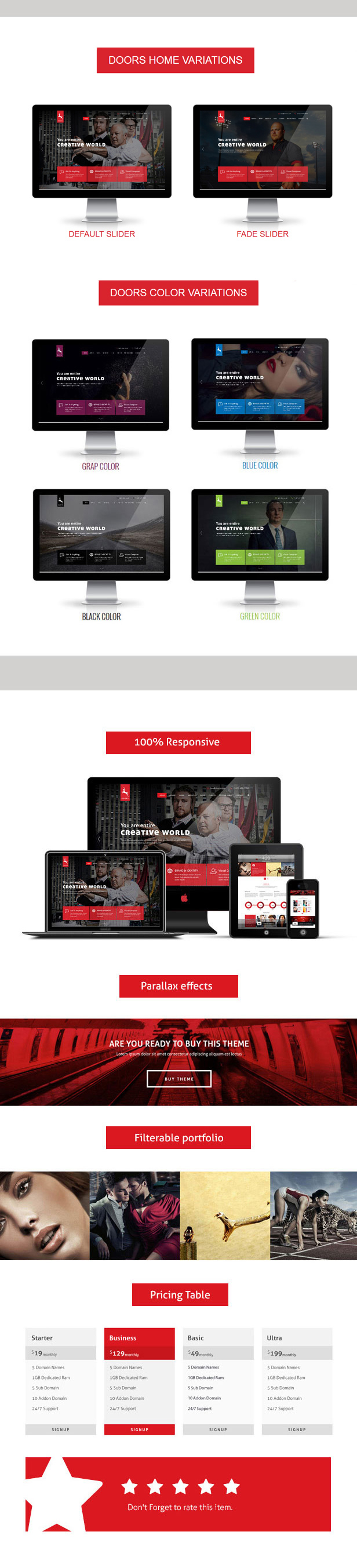 Doors onepage wordpress multipoupose theme
